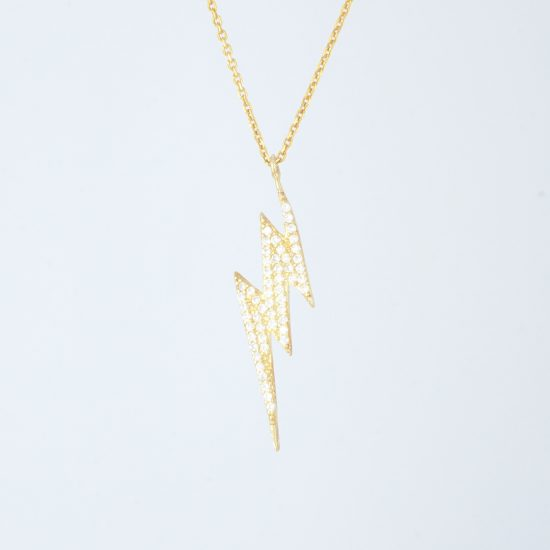 Bolt Necklace Gold - Simple Giltter Collection