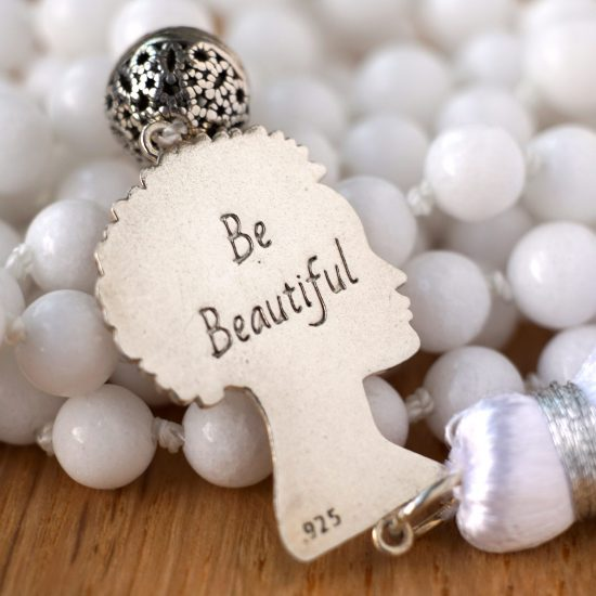 BE Beautiful White Jade Mala