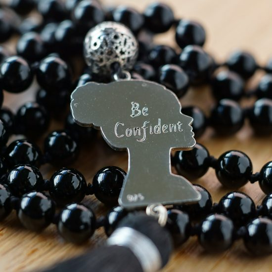 BE Confident Black Agate Mala