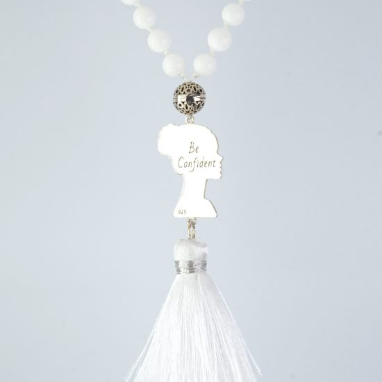 BE Confident White Jade Mala