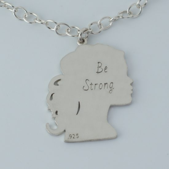 Be Strong Sterling Silver Necklace