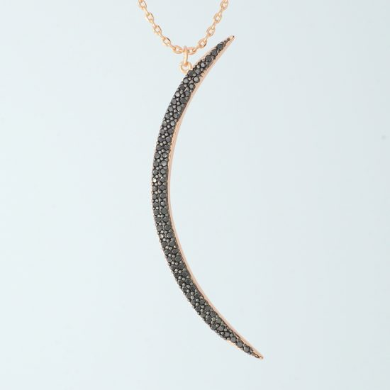 Crescent Moon Necklace Rosegold