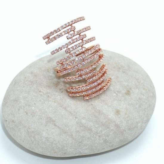 The Lattice Ring (Rose Gold)