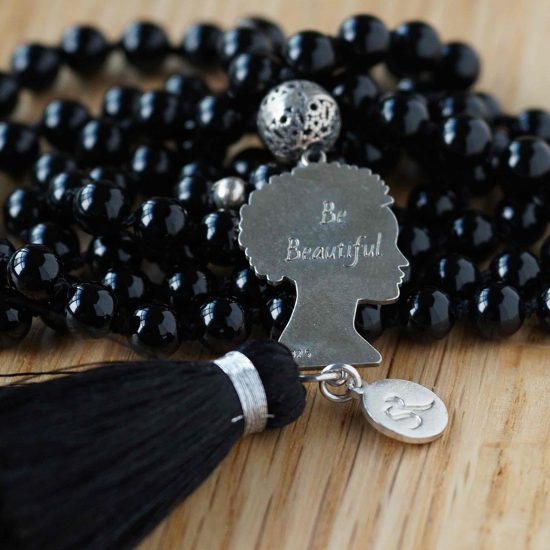 Be Beautiful Black Agate Mala