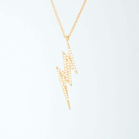 Bolt Necklace Rosegold