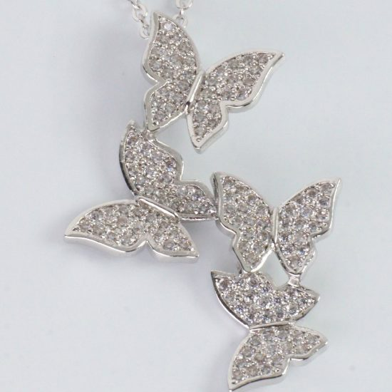 Butterfly Necklace (Silver)