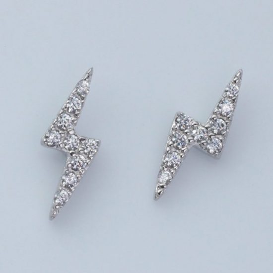 Bolt Earrings (Silver)