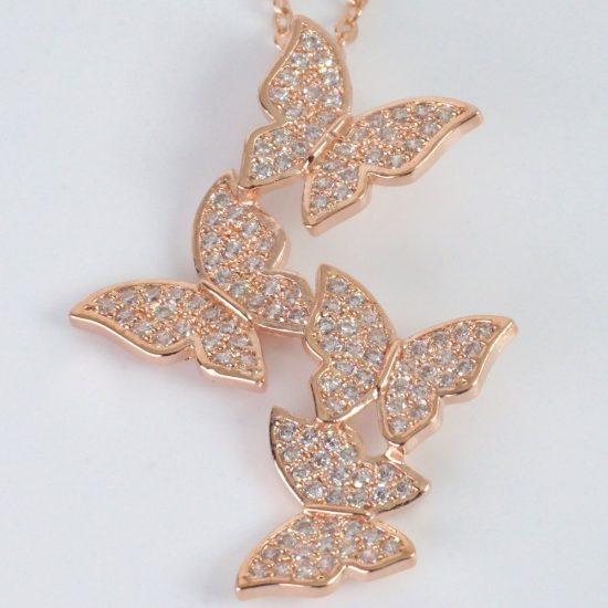 Butterfly Necklace (Rosegold)