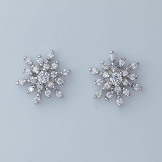 Glitter Burst Earrings (Silver)