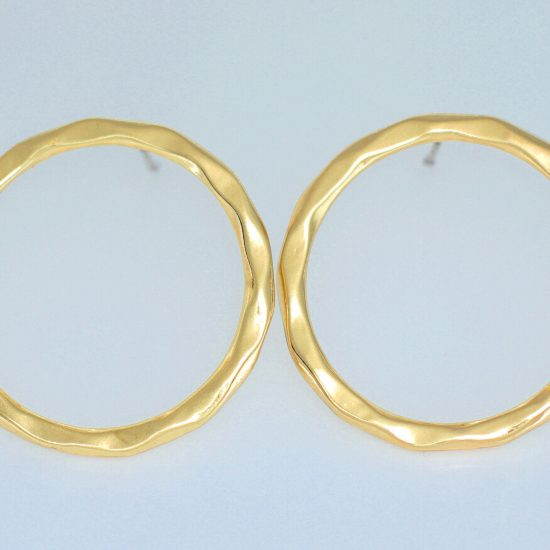 Flat Hoop Earrings (Gold)