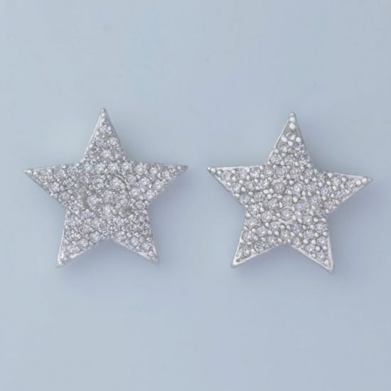 Star Earrings (Sliver)