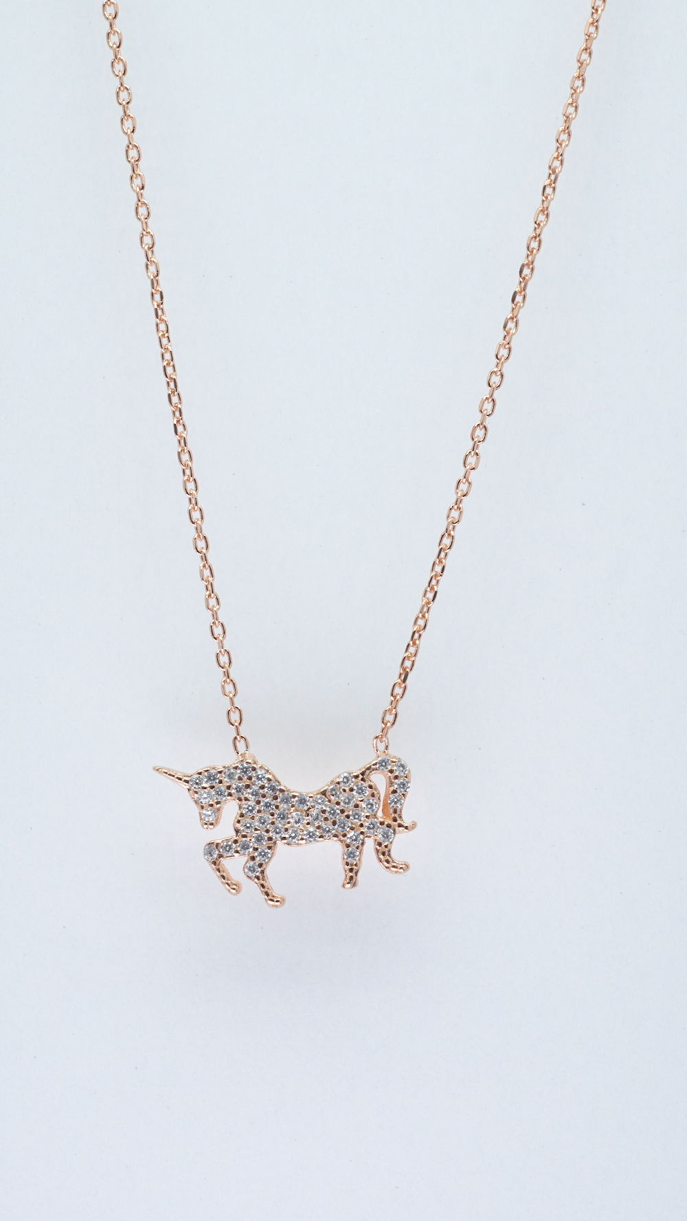 Unicorn Necklace - Rosegold - Simple Giltter Collection