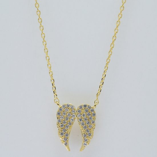 Angle Wing Necklace (Gold)