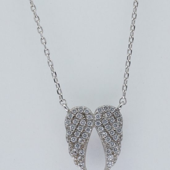 Angle Wing Necklace (Silver)