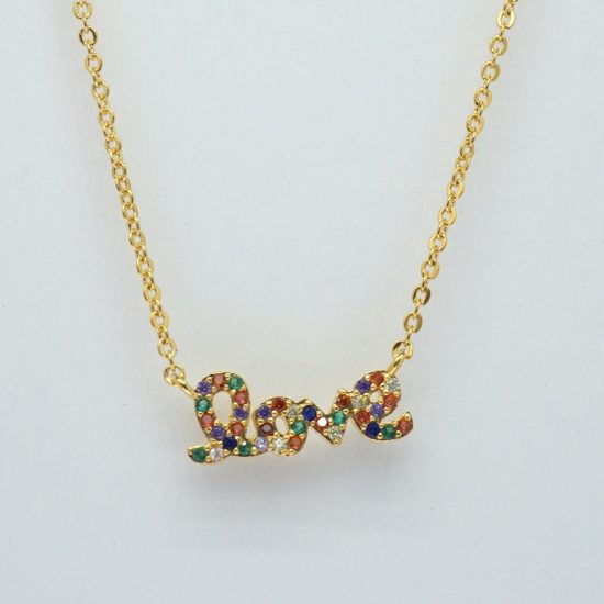 The Love Necklace Rainbow (Rose Gold)