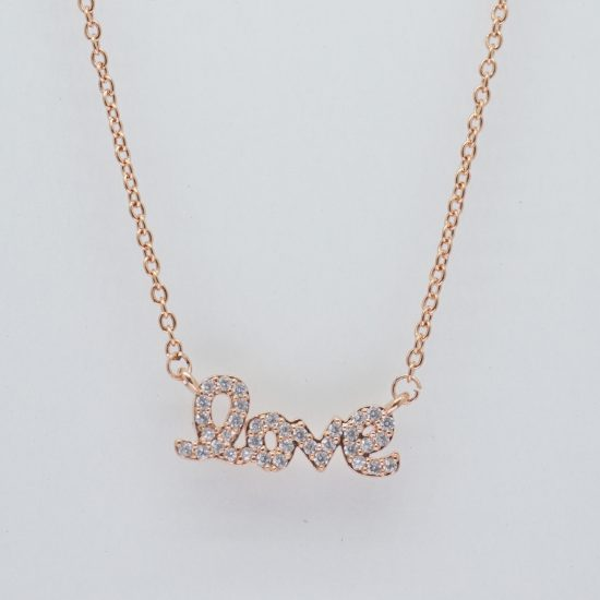The Love Necklace (Rose Gold)