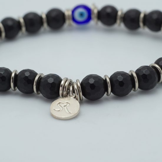 Black Agate 3rd Eye Bracelet