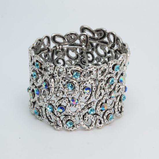 Shades of Blue Cuff Bracelet