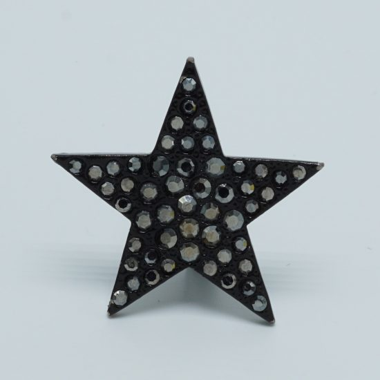 Black Solo Star Ring side front
