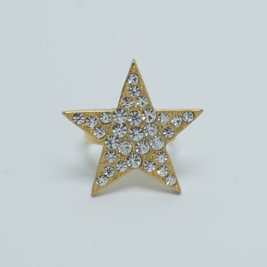 Silver Solo Star Ring Front