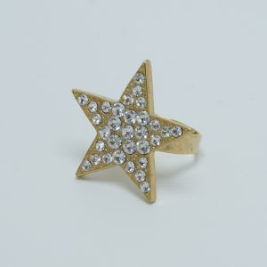 Silver Solo Star Ring
