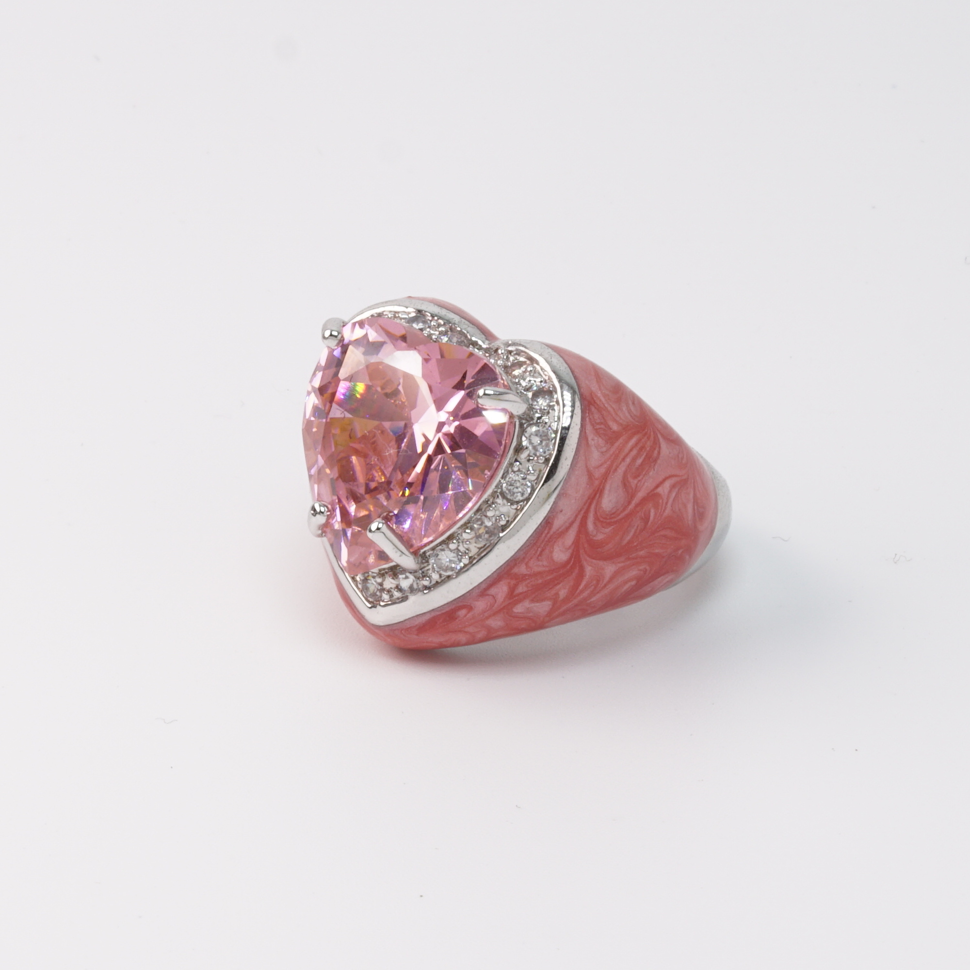 Pink Heart Ring side