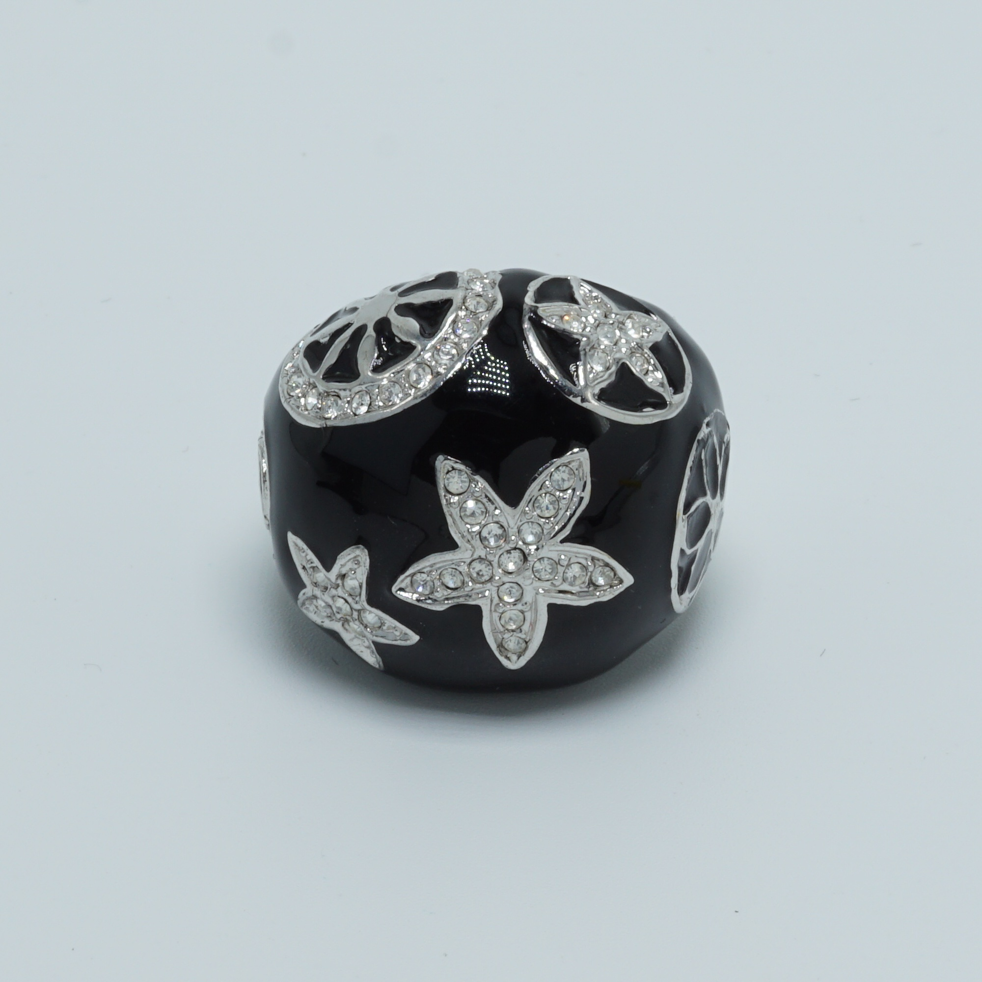 shell star bubble ring black front