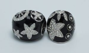 shell star bubble ring black