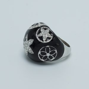 shell star bubble ring black side