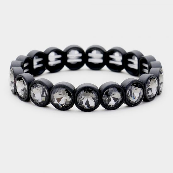 Black Crystal Stretch Bracelet