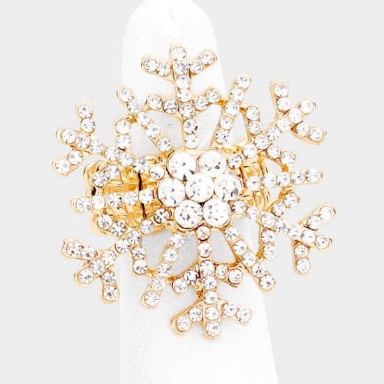 Gold Snowflake Ring