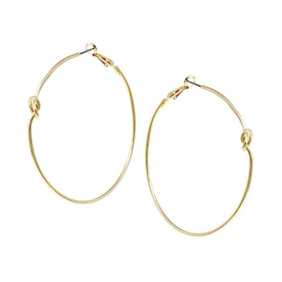 Knot Hoops Gold Earrings