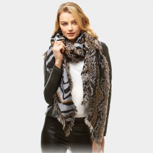 mixed animal scarf