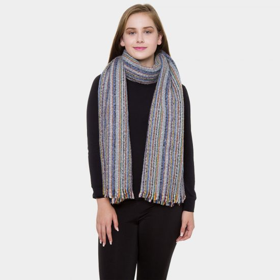 multi striped scarf