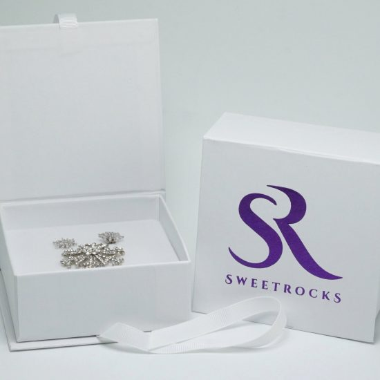 Snowflake Gift Set silver ring and earrings