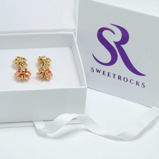 Gold Earrings Gift Box