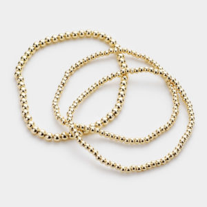 Stretch Gold Ball Bracelets