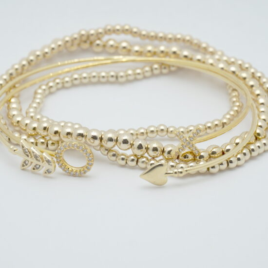 Arm Candy Stack Bracelets in Gold