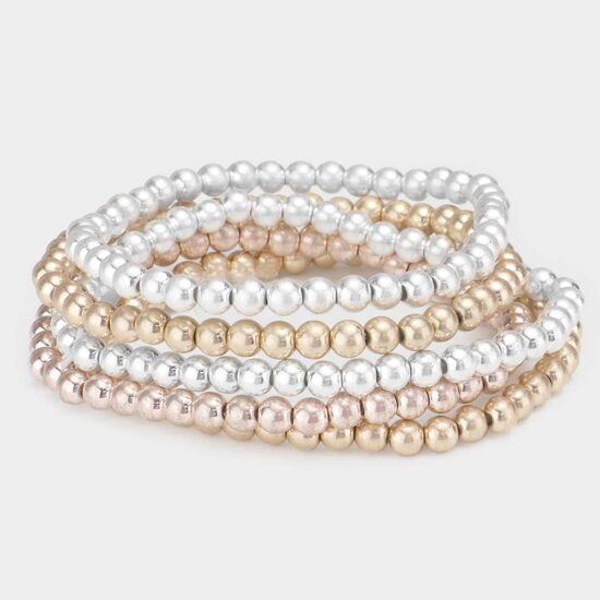 Metal Ball Stretch Bracelets