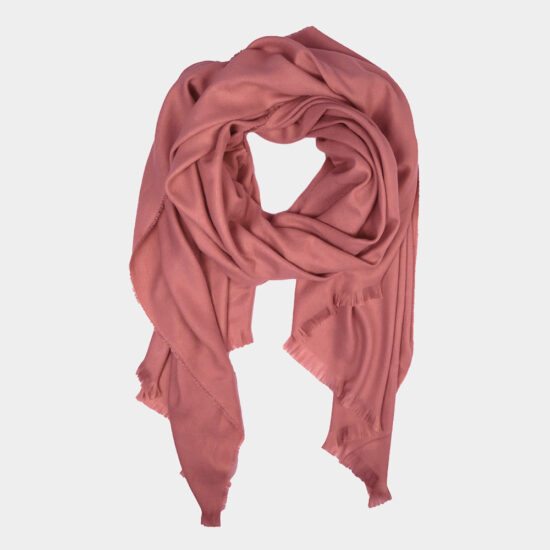 Solid Oblong Scarf in Dust Pink