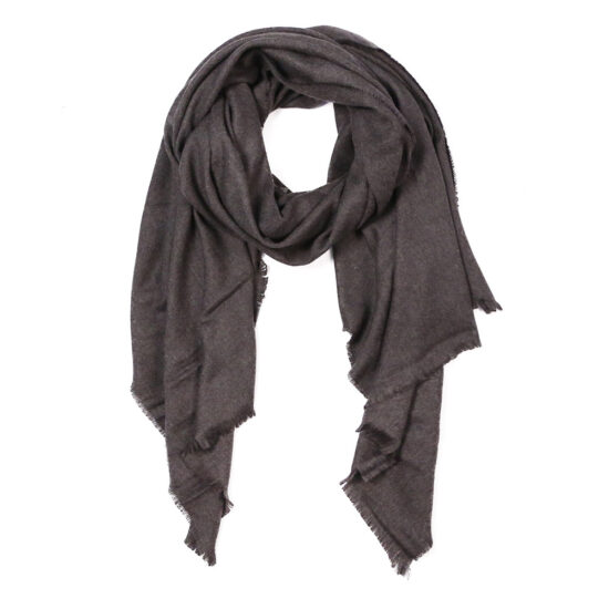 Solid Oblong Scarf in Black