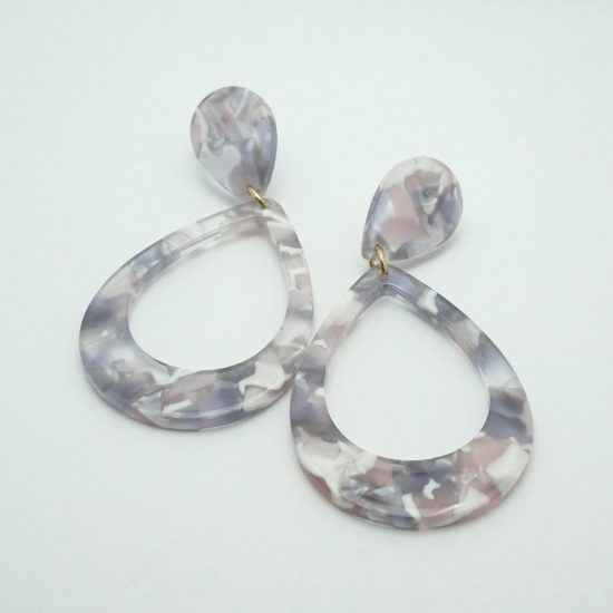 Tortise Resin Drop Earrings