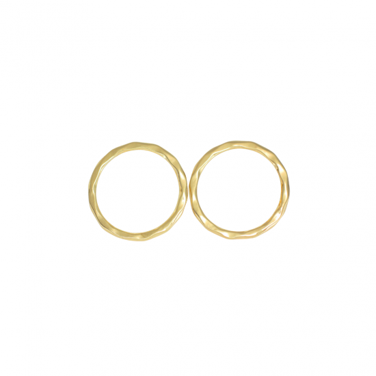 Flat Hoop Earrings in Gold