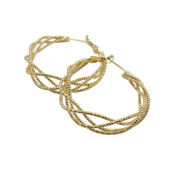 Ladder Wrap Gold Hoop Earrings