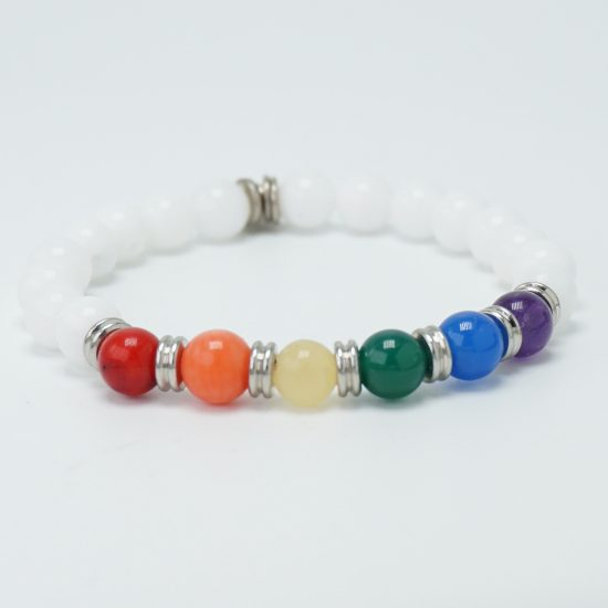 Free Love Stretch Bracelet White
